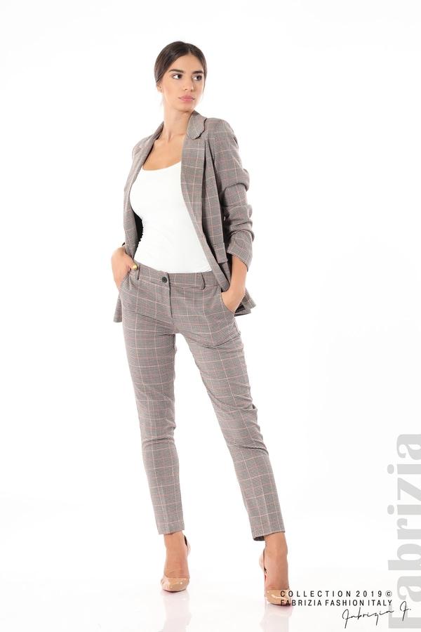 Дамски кариран панталон бежов 8 fabrizia
