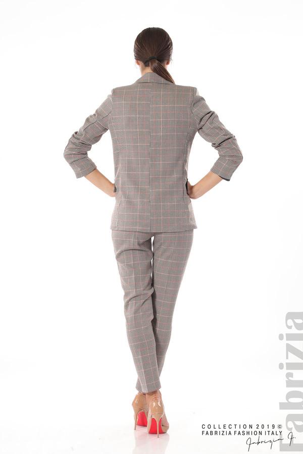 Дамски кариран панталон бежов 11 fabrizia