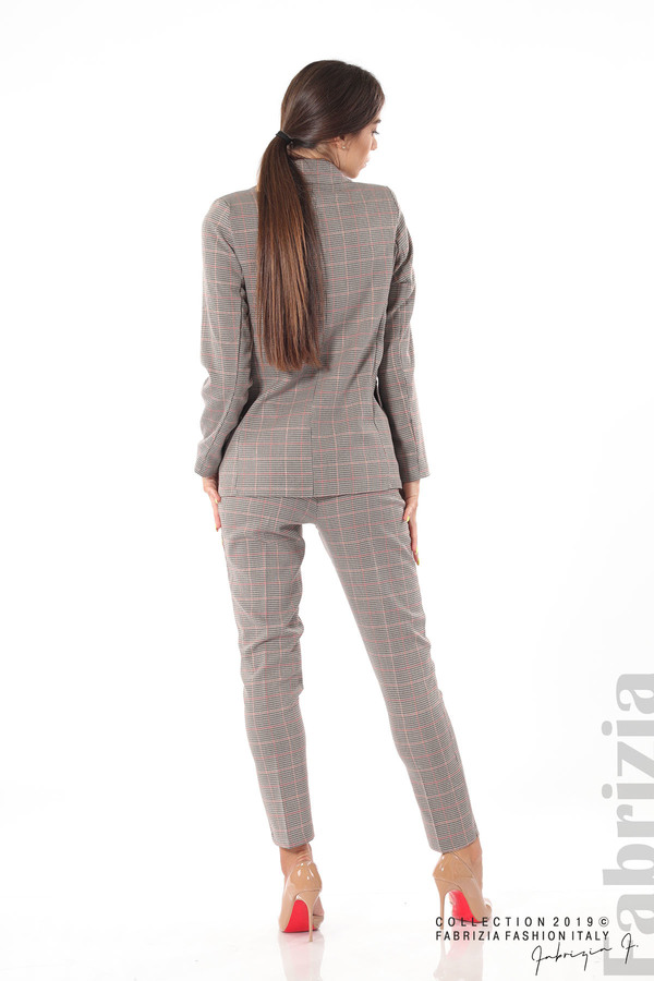 Дамски кариран панталон бежов 12 fabrizia