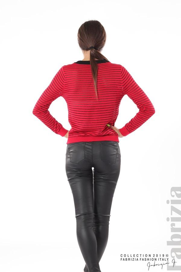 Дамска блуза с прозрачни ленти червен 4 fabrizia
