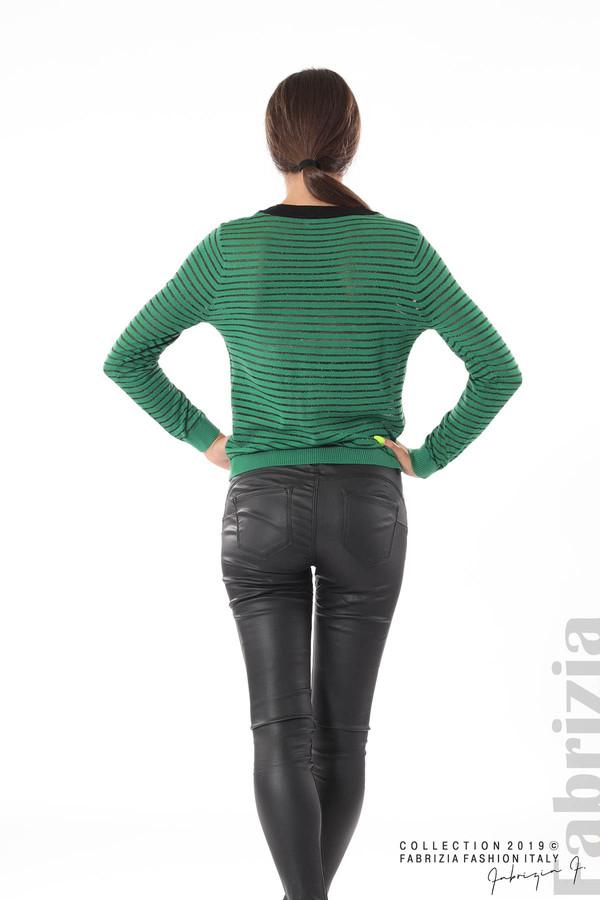 Дамска блуза с прозрачни ленти зелен 4 fabrizia